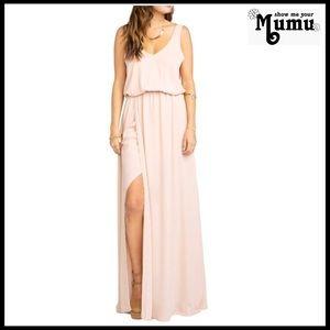 SHOW ME YOUR MUMU V-NECK MAXI DRESS